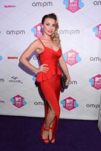 MTV EMA Pre Party, Palladium, 03.11.2016, fot.WBF/Marek Kudelski, na zdj. Lidia Kopania, sukienka, czerwony