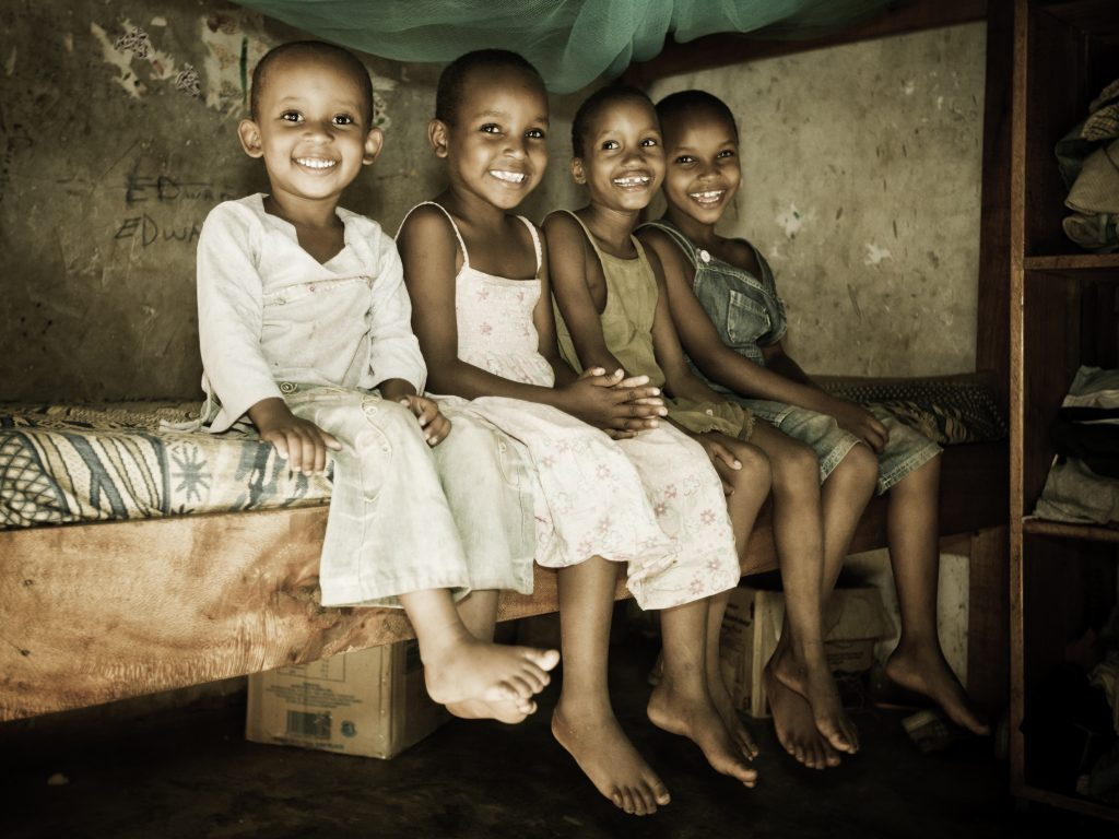 East African Children in an Orphanage